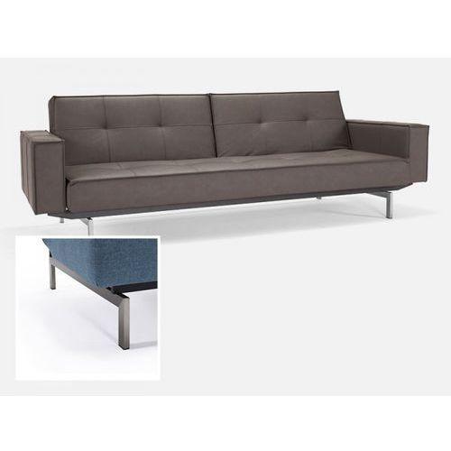 Sofa Splitback z podłokietnikami brązowa 592 nogi stalowe  741010020592-741010020-8-2, INNOVATION iStyle