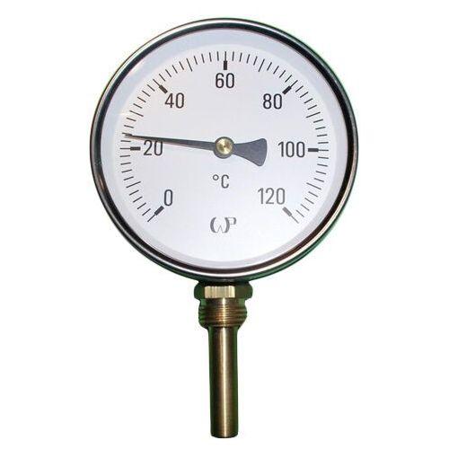 Max lloyd Termometr tarczowy radialny fi63 120 st.c bimetaliczny, kategoria: pozostałe ogrzewanie
