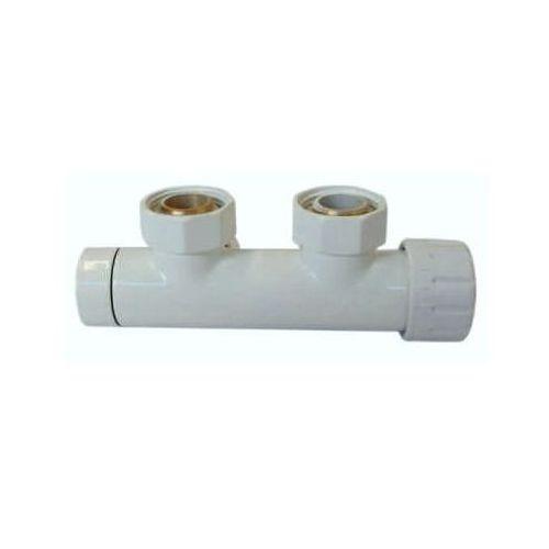 Zawór zintegrowany DUO-PLEX 50mm Schlosser - biały, prawy.