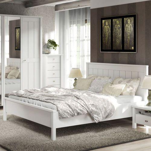 LONDON królewskie białe romantyczne łóżko160 cm - 160 cm ze sklepu Meble Pumo