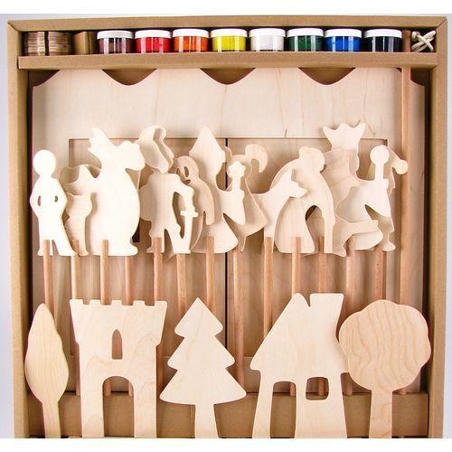 Oferta Teatrzyk drewniany do pomalowania. Kreatywna zabawka (pacynka, kukiełka)