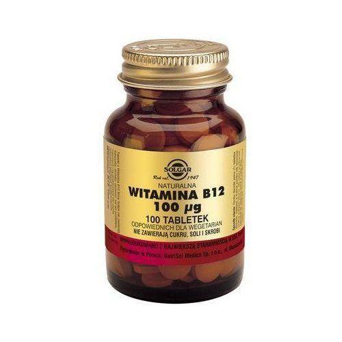 Naturalna Witamina B12 - 100 tabletek - Solgar Kurier: 13.75, odbiór osobisty: GRATIS!, postać leku: tabletk