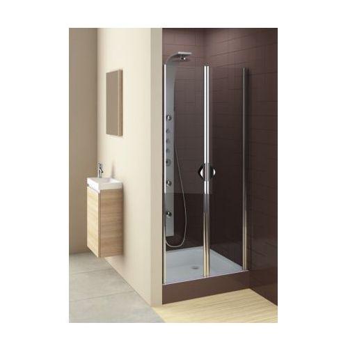 Oferta AQUAFORM drzwi Glass 5 90 wahadłowe, montaż we wnęce lub ze ścianką 103-06357 (drzwi prysznicowe)