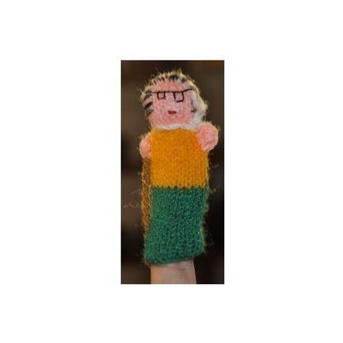 Pacynka, laleczka wełniana na palec - babcia (pacynka, kukiełka)