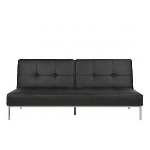 A.D. A.D. Perugia Sofa Rozkładana Czarna Skóra ekologiczna - 0000051215