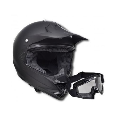 Kask do motocross (M) , bez szybki + gogle, vidaXL