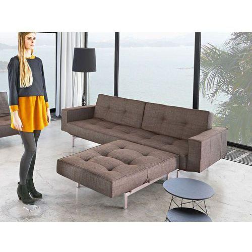 Istyle Splitback Podłokietniki Sofa Rozkładana, brązowa tkanina 503, nogi do wybory - 741010503-pod, Innovation