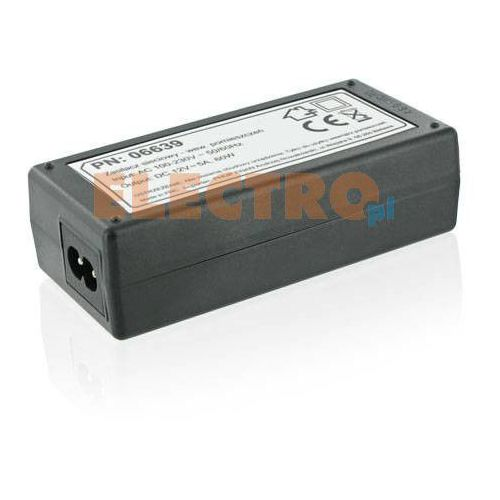 Zasilacz sieciowy WHITENERGY do pasków LED 60W/12V DC 5A wewnętrzny + Odbiór w 800 punktach! z kategorii oświetlenie