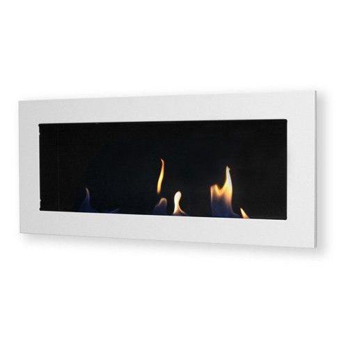 Oferta Biokominek dekoracyjny prostokątny 90x40 biały Flat [950569251525b480]