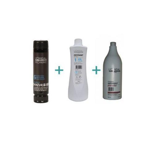 Produkt z kategorii- pozostałe kosmetyki do włosów - LOREAL Cover 5' Zestaw do koloryzacji włosów dla mężczyzn, ciemny brąz.