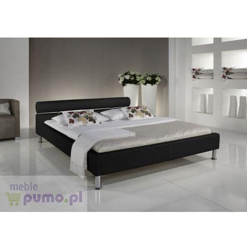 Eleganckie łóżko ANGEL w kolorze czarnym - 140 x 200 cm ze sklepu Meble Pumo