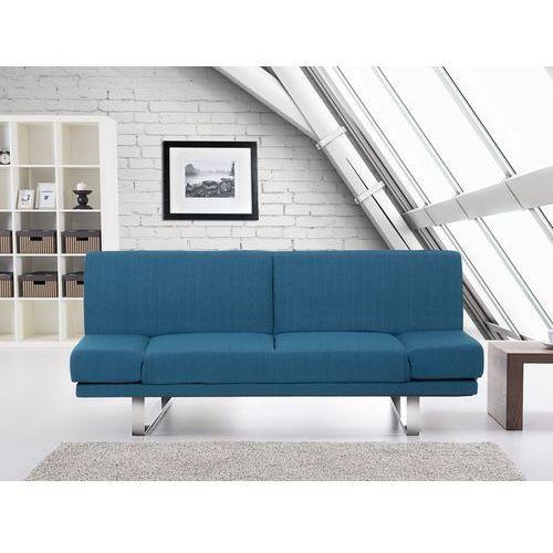 Rozkladana sofa ruchome podlokietniki - YORK niebieski, Beliani