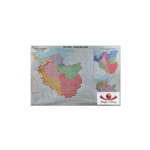 Polska dzielnicowa. Mapa ścienna, produkt marki Nowa Era