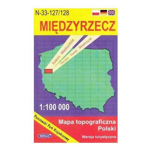 N-33-127/128 Międzyrzecz. Mapa topograficzno-turystyczna 1:100 000 wyd. WZ-Kart, produkt marki Wojskowe Zakłady Kartograficzne