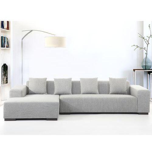 Sofa szara - sofa narozna R - tapicerowana - LUNGO, Beliani