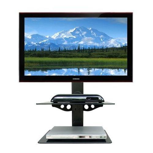 Półka audio video DVD hartowane szkło i aluminium - Glass2 z kat.: półki rtv