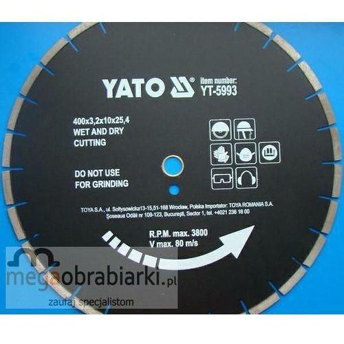 YATO Tarcza diamentowa do asfaltu 400 x 24,5 mm ze sklepu Megaobrabiarki - zaufaj specjalistom