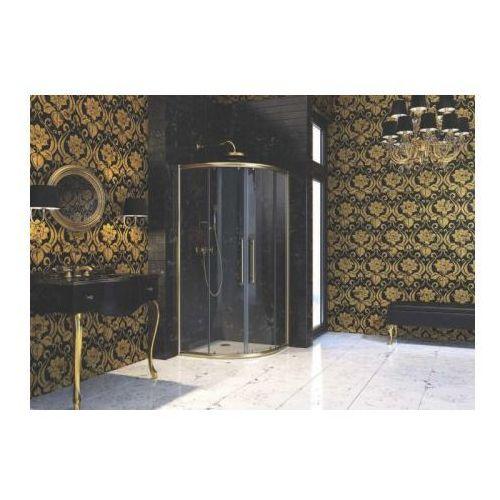 Huppe Enjoy Victorian Drzwi suwane - 100/195 Złoty mat Szkło Clear Grace EV0702.007.343 - odbiór osobisty: