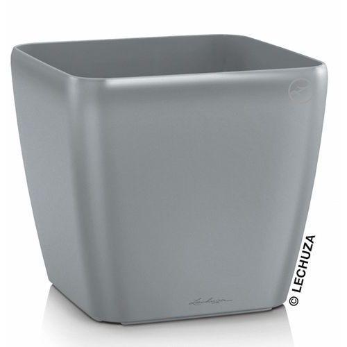 Donica Lechuza Quadro LS srebrna, produkt marki Produkty marki Lechuza