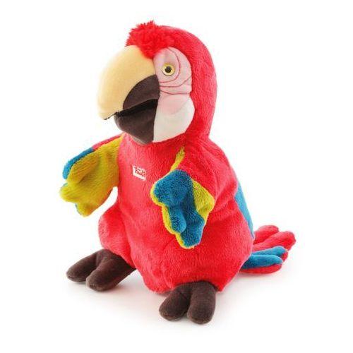 Pluszowa pacynka na rękę, przytulanka, Czerwona papuga, 29930-Trudi, zabawa w teatrzyk (pacynka, kukiełka)