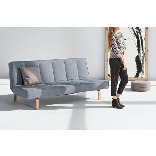 Istyle ODIN WOOD, Sofa Rozkładana, niebieska tkanina 525, nogi drewniane - 741004525wood