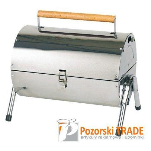 Zamykany grill w stylu amerykańskim z 2 siatkami i szczypcami od POZORSKI TRADE