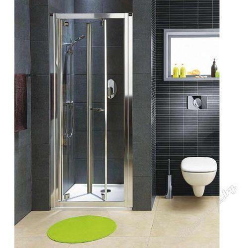 Koło Geo 6 Drzwi wnękowe składane bifold 90 cm, srebrne GDRB90222003 (drzwi prysznicowe)