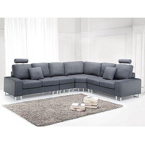 Sofa tapicerowana - kanapa z 100% poliestru ciemnoszara - STOCKHOLM, Beliani