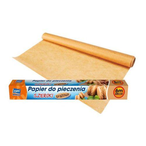 Papier do pieczenia brązowy 38cm x 6m RAVI, produkt marki Ravi
