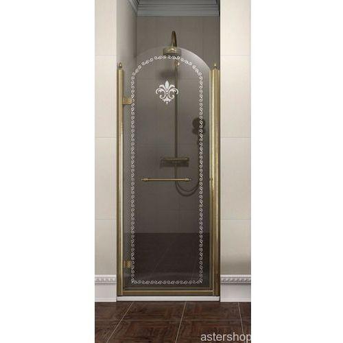 ANTIQUE drzwi prysznicowe do wnęki 80cm lewe szkło z wzorem GQ1280L (drzwi prysznicowe)