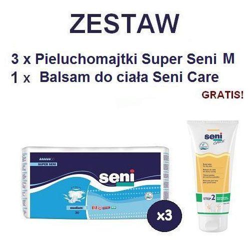 Produkt Pieluchomajtki Super Seni (2) Medium 3op. x 30szt + Balsam Seni Care