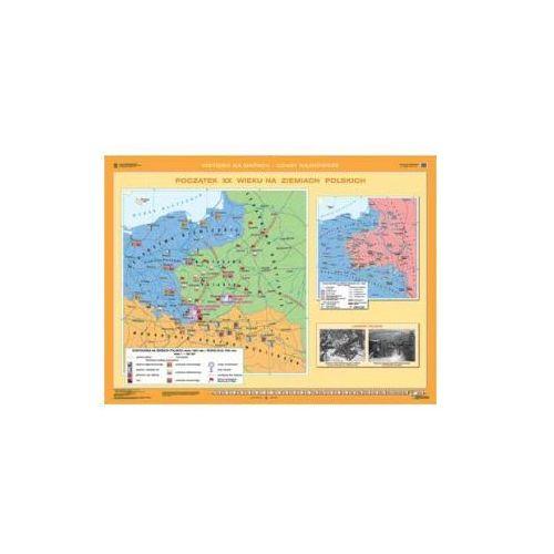 Produkt Powstanie styczniowe/Początek XX w. na ziemiach polskich. Mapa ścienna., marki Nowa Era