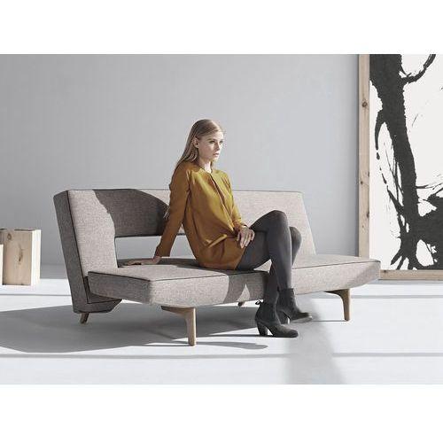 Istyle Puzzle Wood Sofa Rozkładana, szara tkanina 521, nogi drewniane - 772025521-5, Innovation