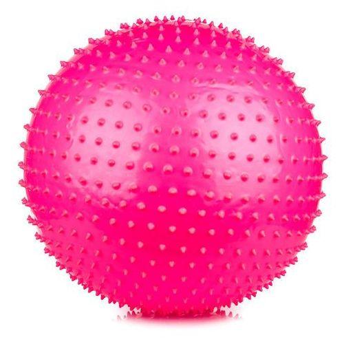 Piłka gimnastyczna z masażem Saggio Fit 65cm  - różowy, produkt marki Spokey