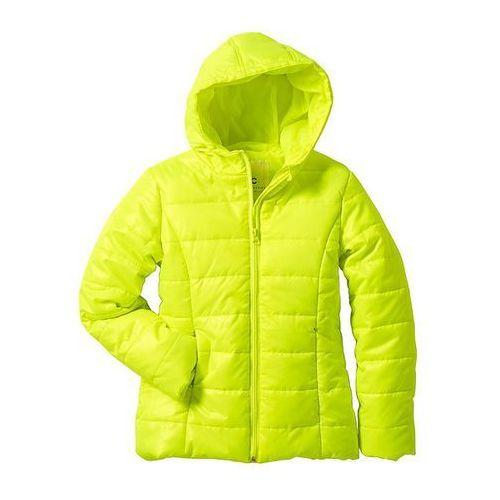 Lekka kurtka pikowana  żółty neonowy, bonprix z bonprix