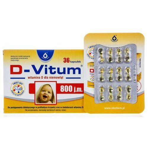 [kapsułki] D-Vitum 800 j.m. witamina D dla niemowląt kaps.twist-off - 36 kaps.