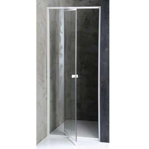 AMICO drzwi prysznicowe do wnęki ze ścanką stałą 80-102 cm G80 (drzwi prysznicowe)