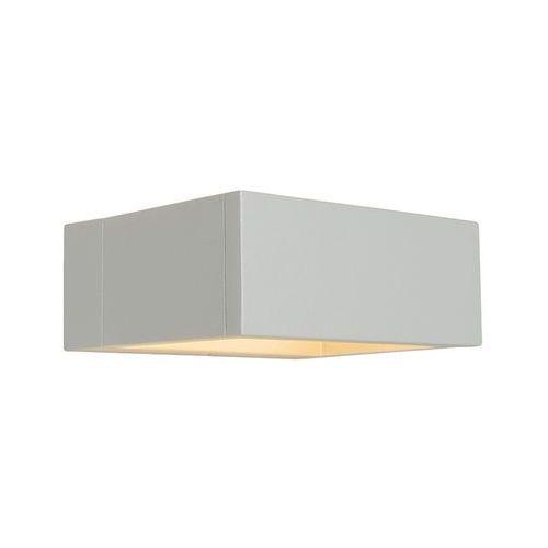 Lampa zewnętrzna ścienna Frame LED srebrno szara od lampyiswiatlo.pl