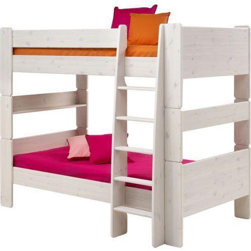 Łóżko piętrowe podwójne Steens for kids - sosna biel. szczotkowana ze sklepu Meble Pumo