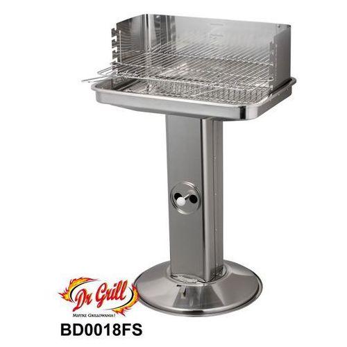 Grill prostokątny 34x54 cm deluxe na nodze stal nierdzewna (BD0018FS), produkt marki Planta