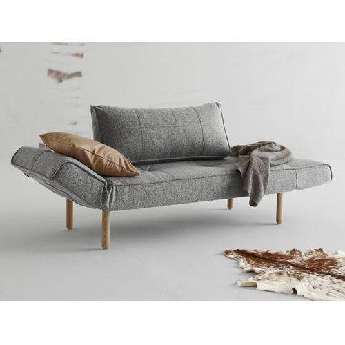 Sofa Zeal szara 565 nogi jasne drewno Stem  740021565-2-740022-1, INNOVATION iStyle