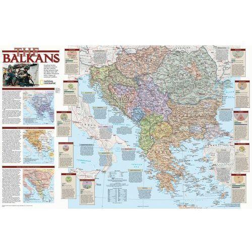 Bałkany. Mapa ścienna magnetyczna w ramie 1:2,85 mln wyd. , produkt marki National Geographic