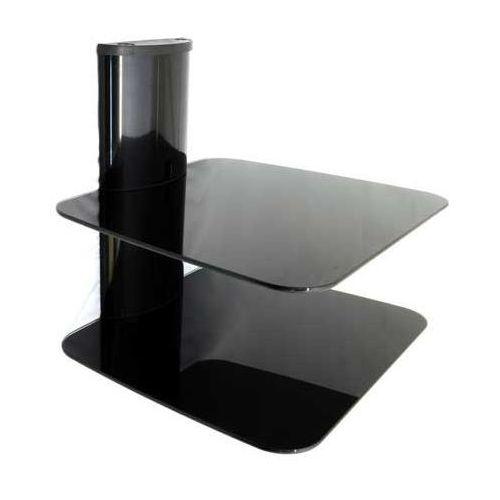 DVD8 - Półka AUDIO VIDEO DVD hartowane szkło i aluminium, max udźwig 20kg z kat.: półki rtv