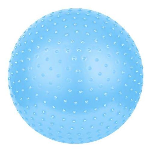 Piłka gimnastyczna z masażem Saggio Fit 65cm  - niebieski, produkt marki Spokey