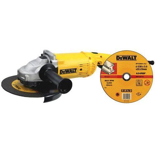 Szlifierka kątowa sieciowa 230mm 2000W D28490 DeWALT + tarcza tnąca do metalu 230x22,2mm DeWALT ze sklepu NEXTERIO