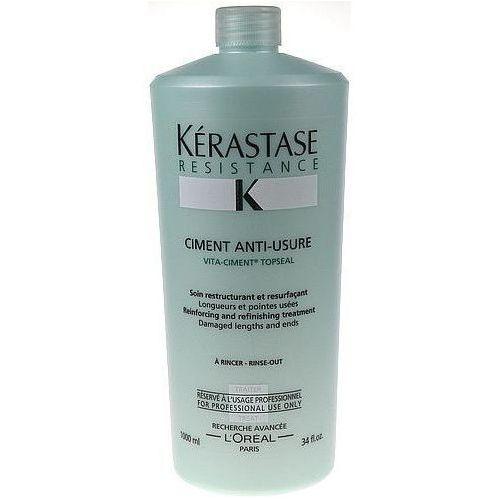Produkt z kategorii- odżywki do włosów - Kerastase Resistance Ciment Anti Usure 1000ml W Odżywka do włosów + Próbka perfum GRATIS + Wysyłka od 6zł!