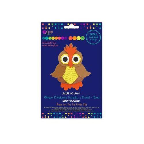Zestaw kreatywny pacynka z pianki Sowa - Dostawa Gratis, szczegóły zobacz w sklepie (pacynka, kukiełka)