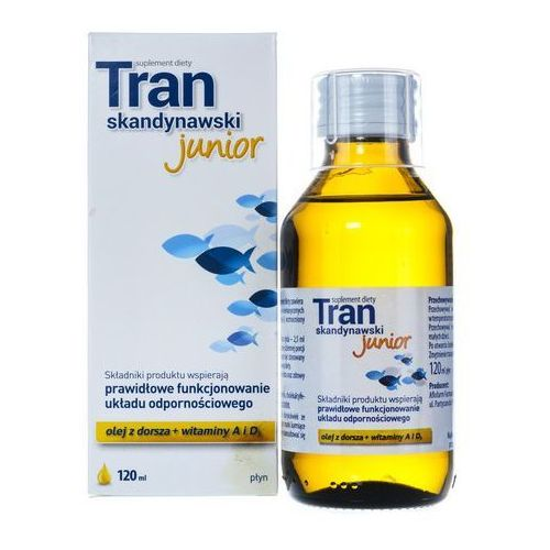 Tran skandynawski Junior 120 ml, postać leku: płyn