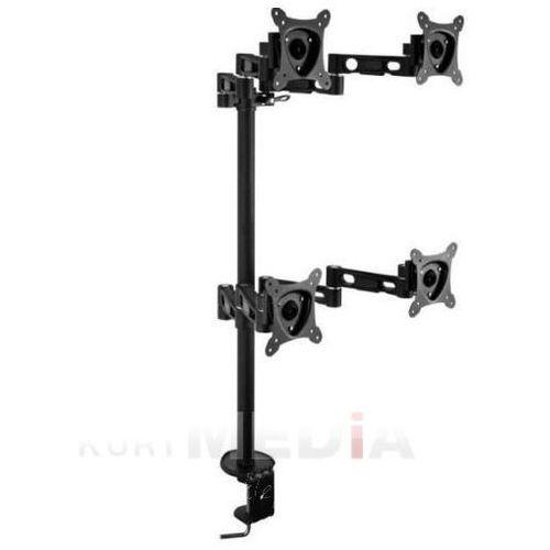 Towar  Uchwyt biurkowy do 4xTV/LCD 13-24'' uchylny/obrotowy/reg.wysokość max4x15kg czarny z kategorii uchwyty i ramiona do tv