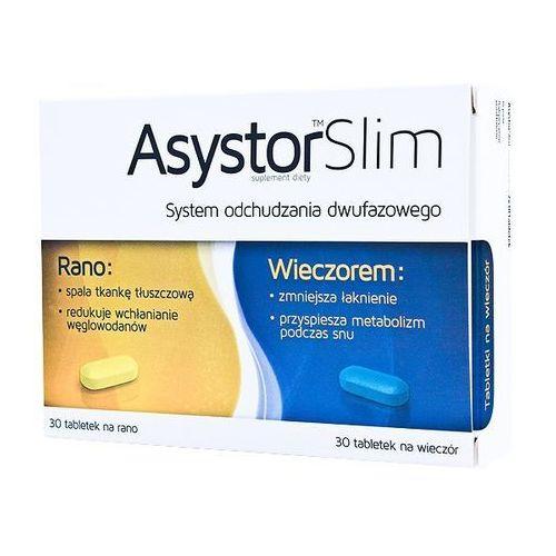Asystor slim - dwufazowy preparat na odchudzanie - 60 tabl. wyprodukowany przez Aflofarm